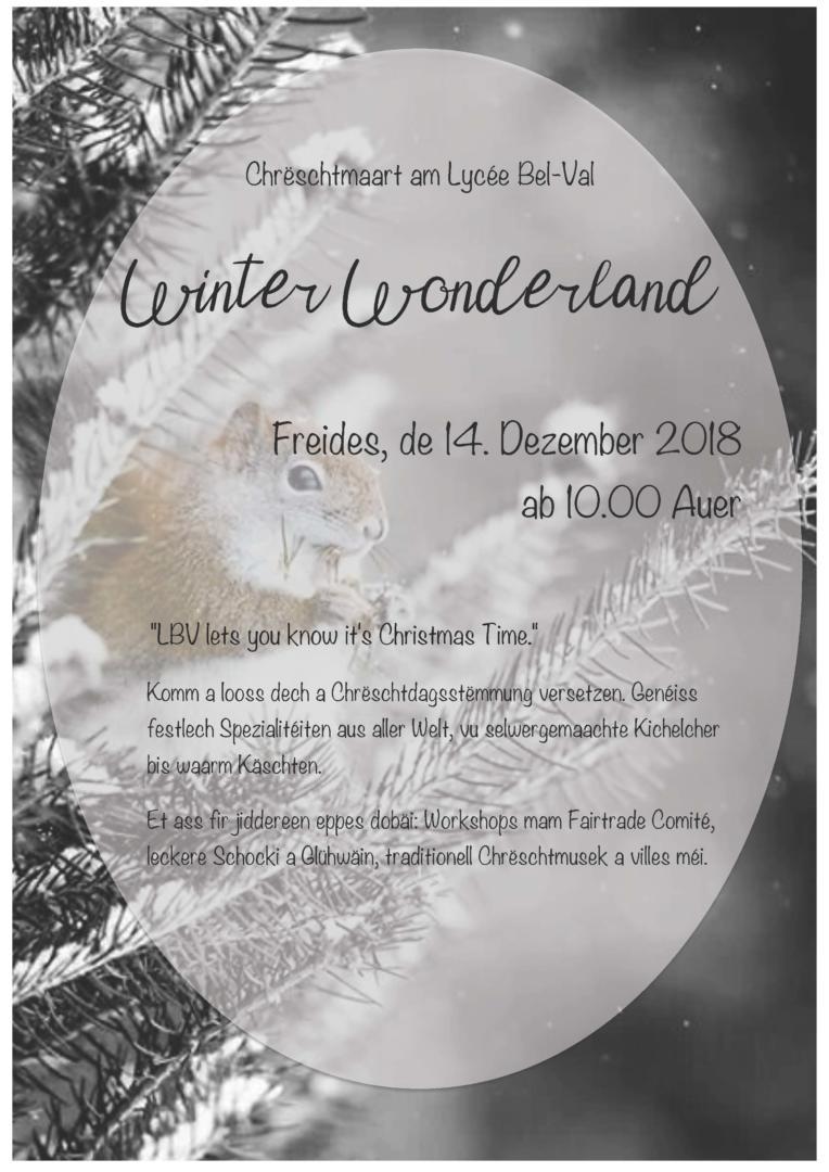 Winter Wonderland – Chrëschtmaart am Lycée Bel-Val